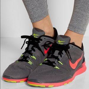Nike Free 5.0 TR Mesh & Neoprene Sneaker Neon Sz 7
